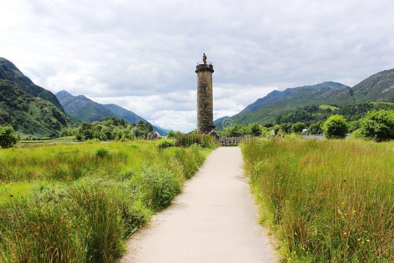 Monumento de Glenfinnan fotografia de stock