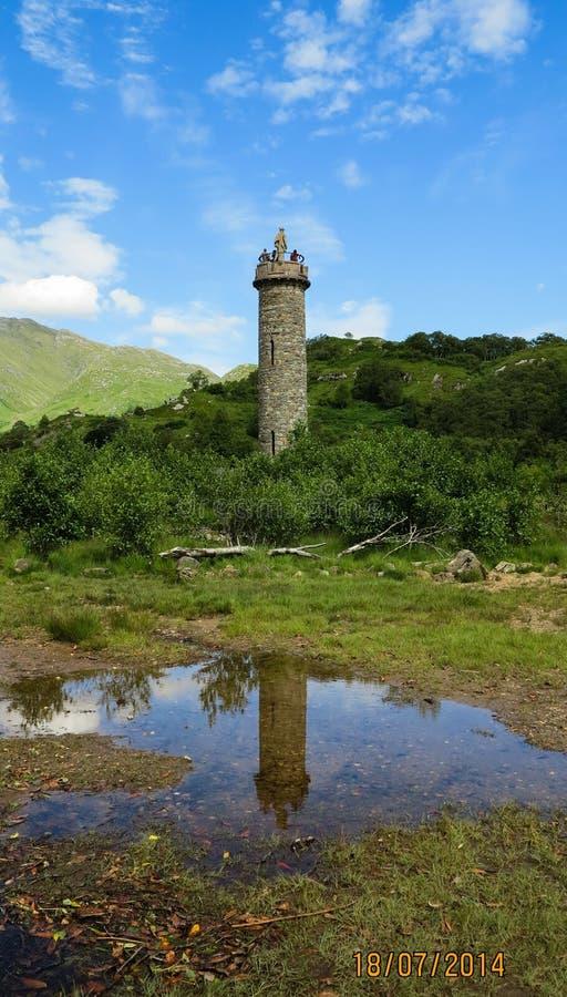 Monumento de Glenfinnan fotos de archivo