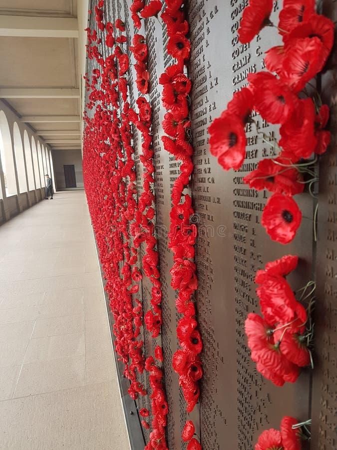 Monumento de guerra australiano, Canberra fotografía de archivo libre de regalías