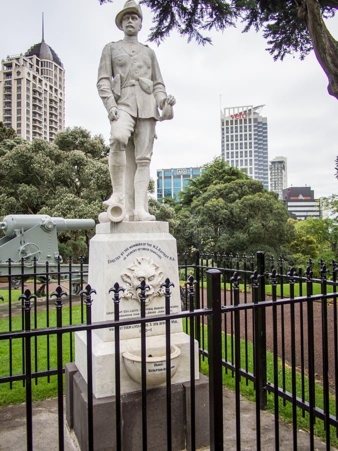 Monumento de guerra Boer en Albert Park, Auckland, Nueva Zelanda imágenes de archivo libres de regalías