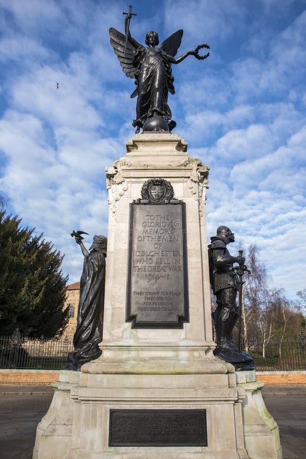 Monumento de guerra de Colchester fotos de archivo libres de regalías