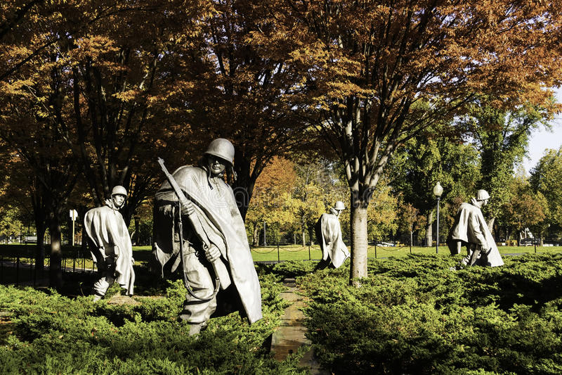 Monumento de Guerra de Corea imagen de archivo libre de regalías