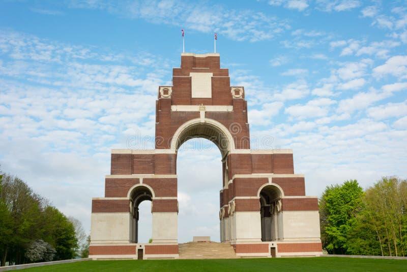 Monumento de guerra de Thiepval fotografía de archivo