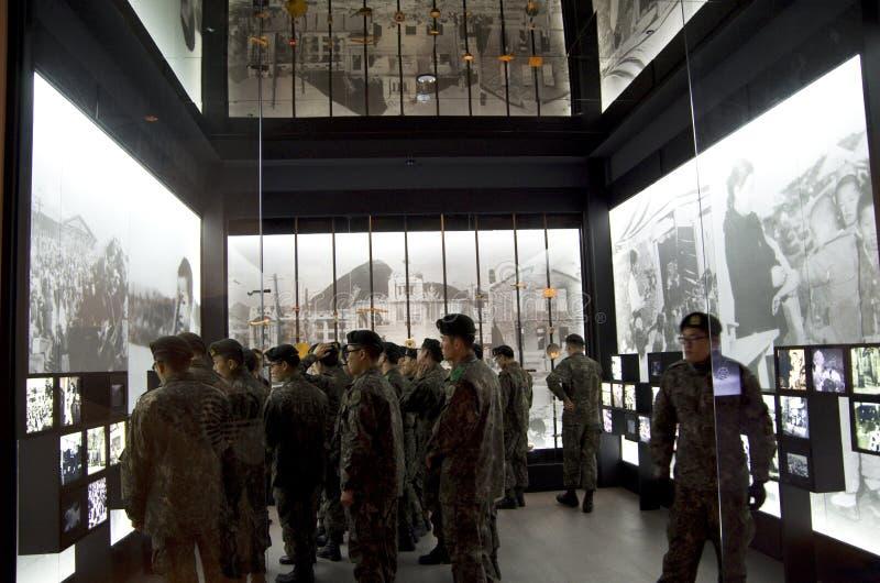 Monumento de guerra del aprendizaje del soldado de Corea fotos de archivo libres de regalías