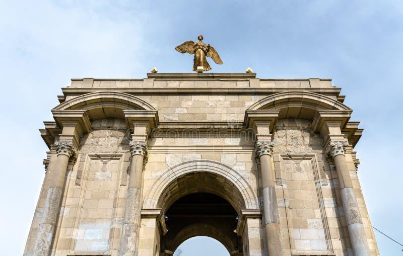 Monumento de guerra en Constantina, Argelia fotografía de archivo