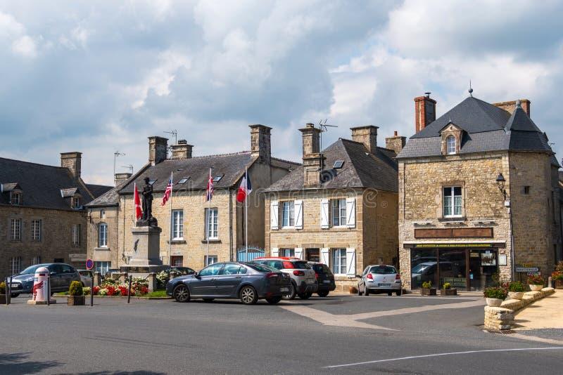 Monumento de guerra en Sainte-Marie-du-Mont, Normand?a, Francia imagen de archivo