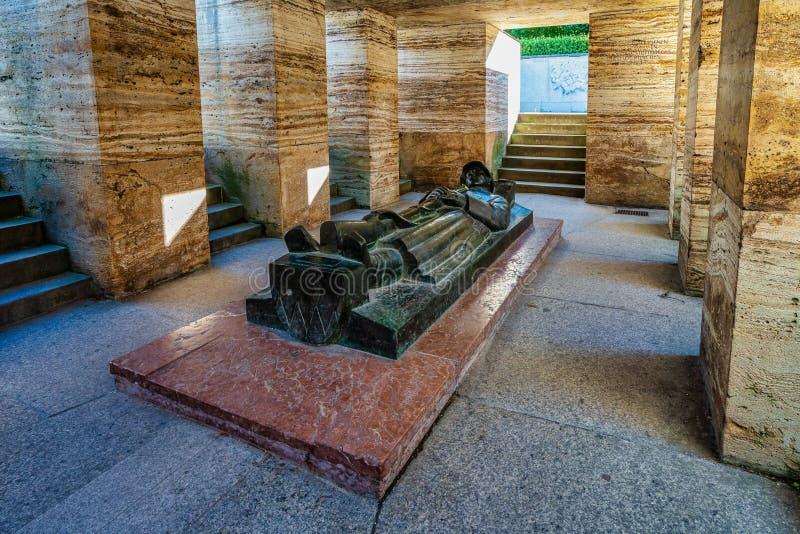 Monumento de guerra famoso en el jardín de la corte en Munich, Alemania fotografía de archivo libre de regalías