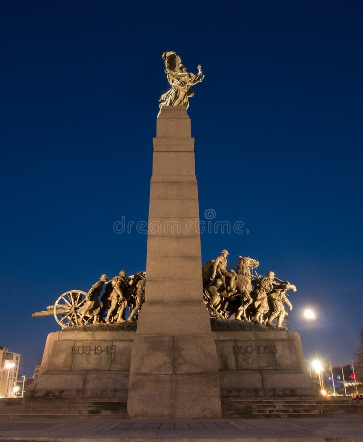 Monumento de guerra nacional Ottawa, Ontario, Canadá fotografía de archivo libre de regalías