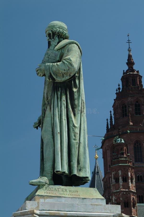 Monumento de Gutenberg imágenes de archivo libres de regalías