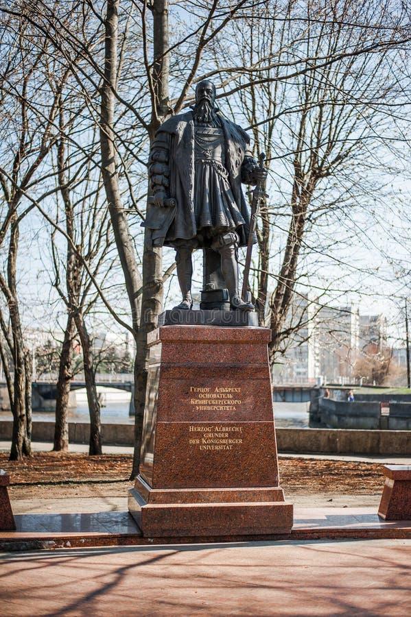 Monumento de Herzog Albrecht, duque de Prússia fotografia de stock