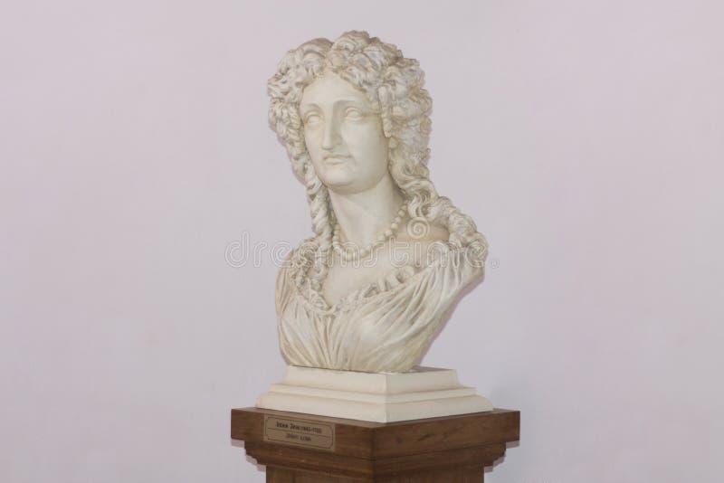 Monumento de Ilona Zrinyi Jelena Zrinska 1643-1703 una de las heroínas más grandes de la historia croata y húngara en el castillo foto de archivo
