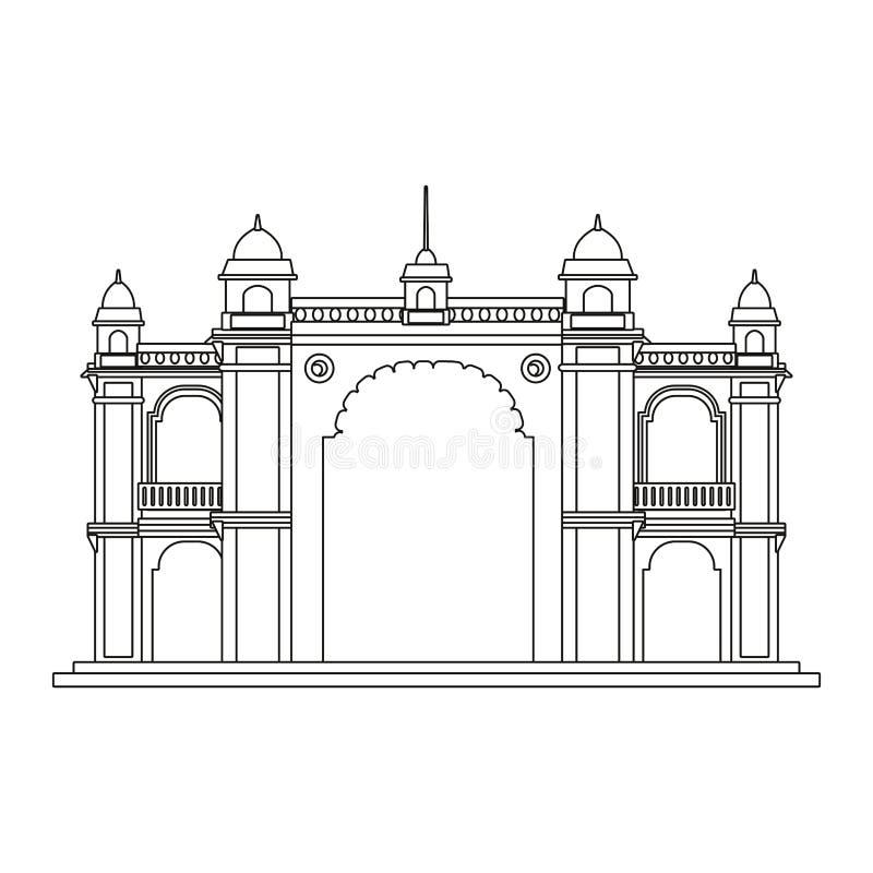 Monumento de india da entrada de Mumbai ilustração stock