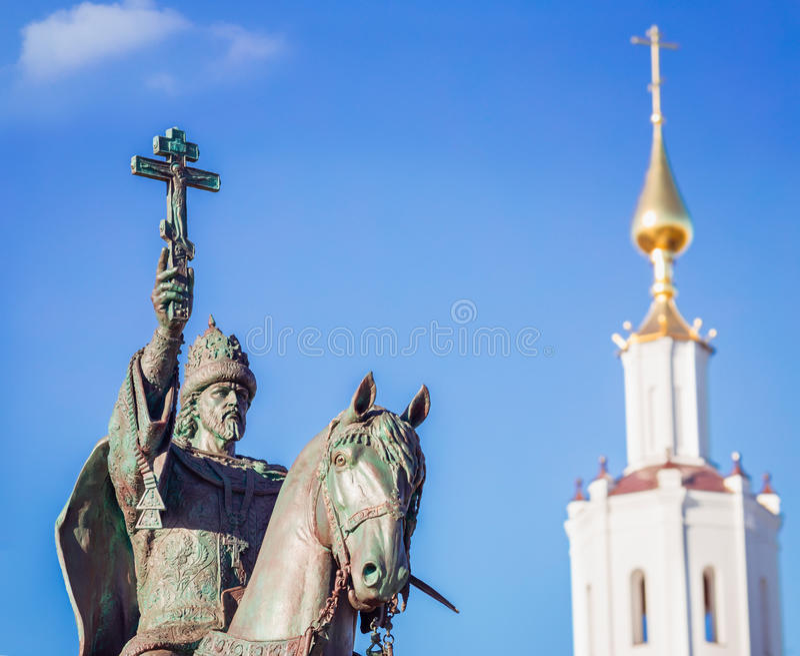Monumento de Ivan IV del zar en Oryol foto de archivo