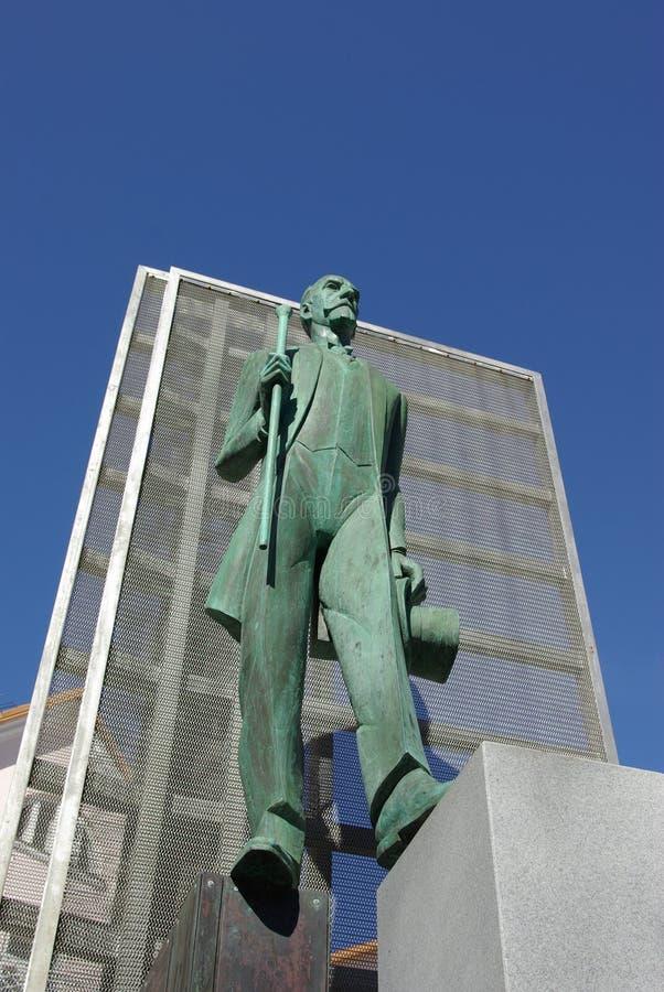 Monumento de Jaan Tõnisson imagenes de archivo