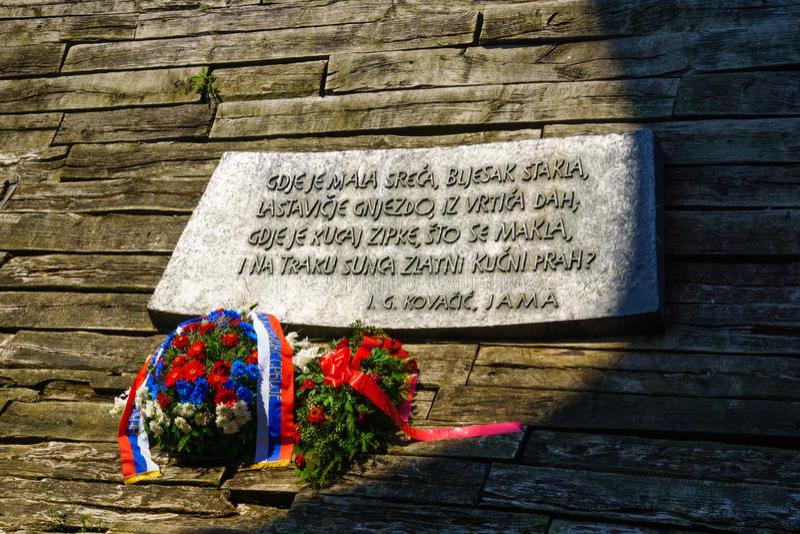 Monumento de Jasenovac WWII foto de archivo libre de regalías