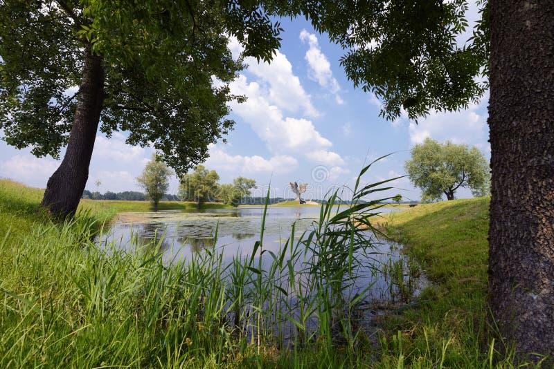 Monumento de Jasenovac WWII foto de archivo