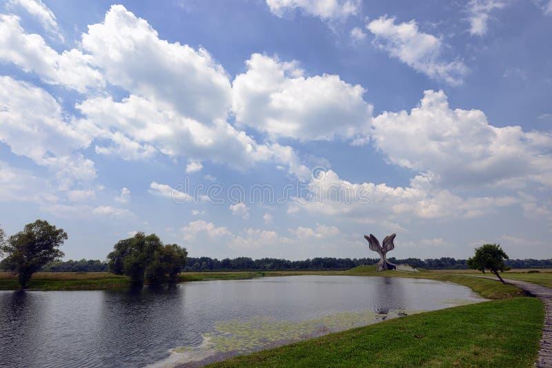 Monumento de Jasenovac WWII fotografía de archivo libre de regalías