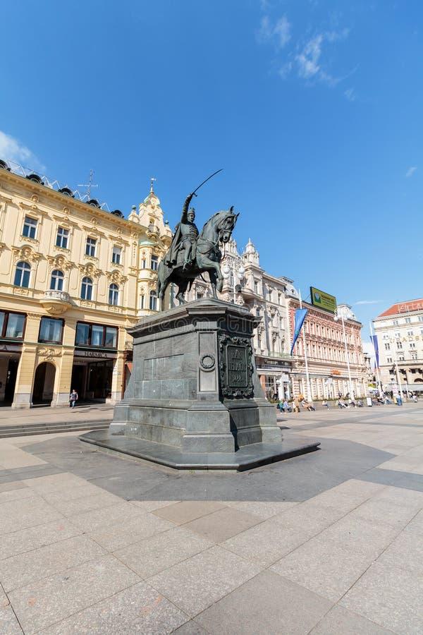 Monumento de Jelacic da proibição fotos de stock royalty free
