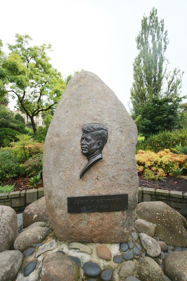 Monumento de John F. Kennedy em Melbourne, Austrália fotografia de stock