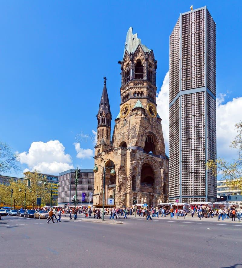 Monumento de Kaiser Wilhelm en Kurfurstendamm imagen de archivo