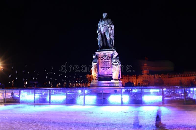 Monumento de Karl Friedrich von Baden em Karlsruhe imagens de stock royalty free