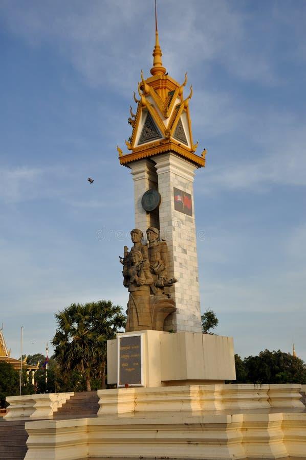 Monumento de la amistad de Camboya Vietnam fotografía de archivo
