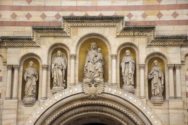 Monumento de la catedral de Speyer en la ciudad de Speyer en Renania Palatinado, Alemania imagen de archivo