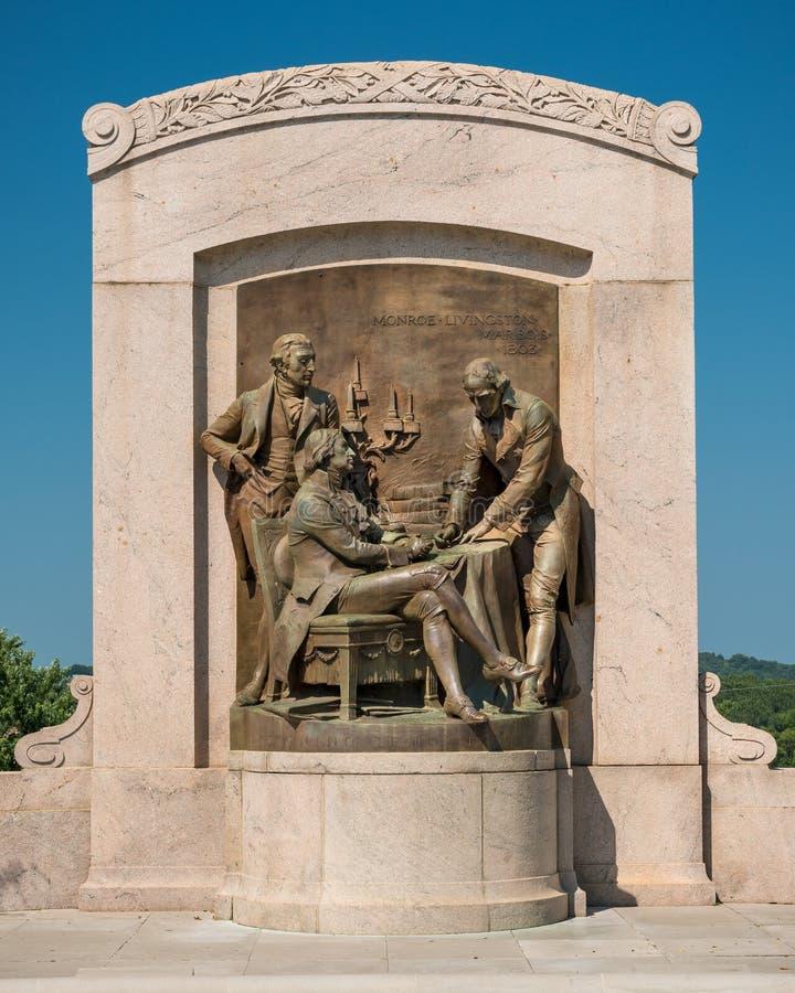 Monumento de la compra de Luisiana imagen de archivo libre de regalías