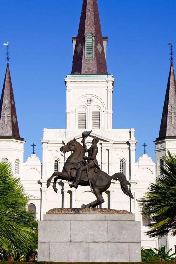 Monumento de la estatua de New Orleans Andrew Jackson foto de archivo