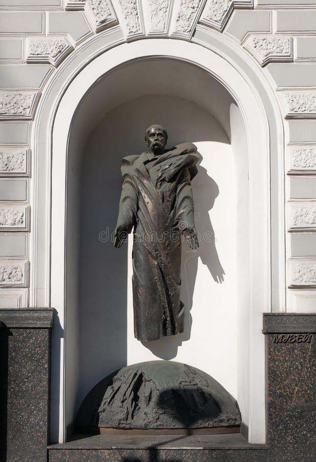 Monumento de la figura ucraniana más grande Taras Shevchenko del poeta, del escritor, del artista, pública y política fotos de archivo libres de regalías