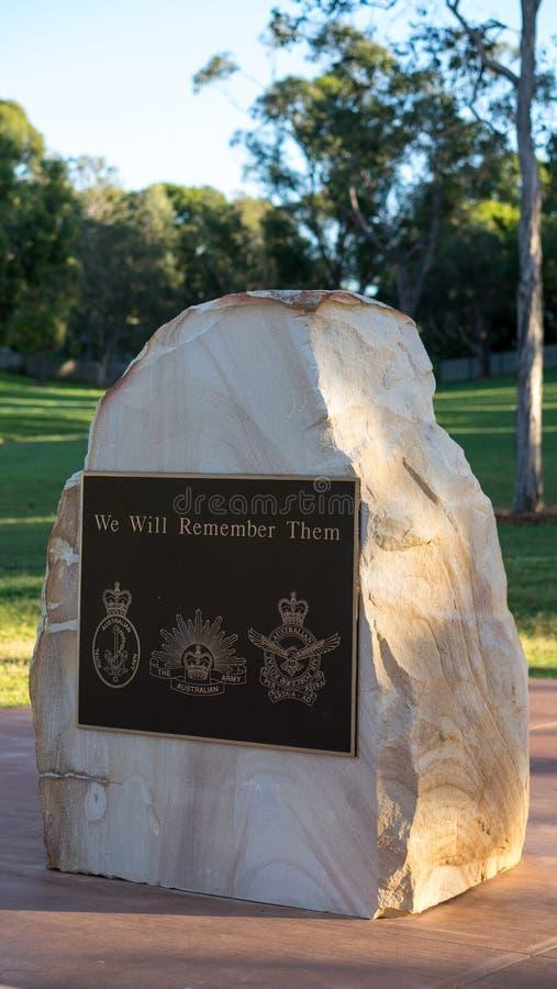 Monumento de la guerra de Anzac imagen de archivo