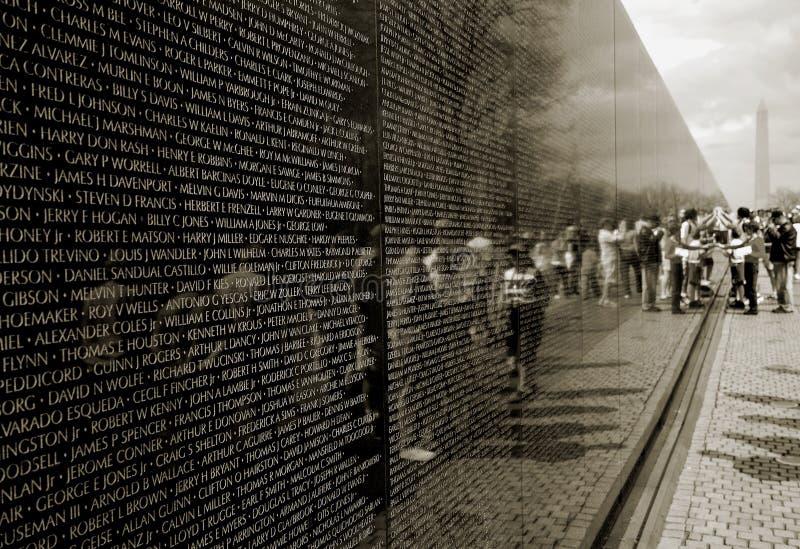 Monumento de la guerra de Vietnam fotografía de archivo