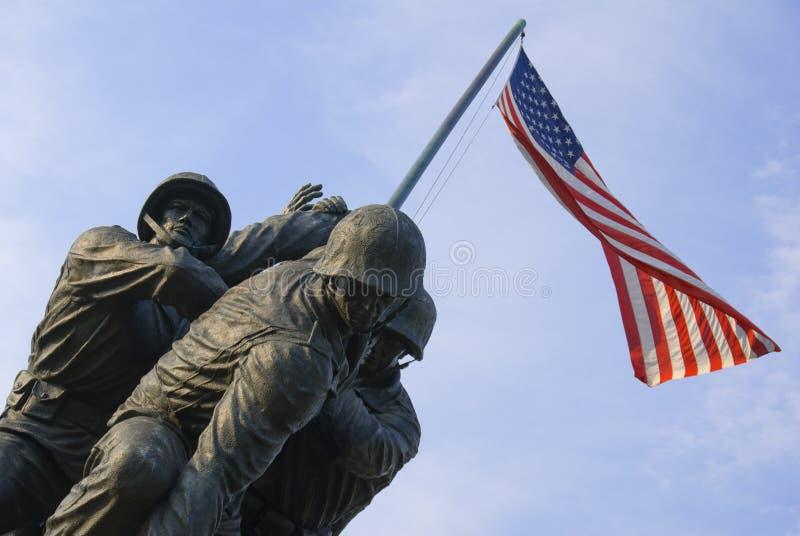 Monumento de la guerra del Cuerpo del Marines de los E.E.U.U. imágenes de archivo libres de regalías