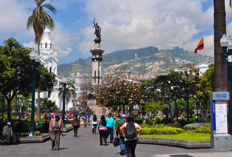 Monumento de la independencia de Quito imagen de archivo libre de regalías
