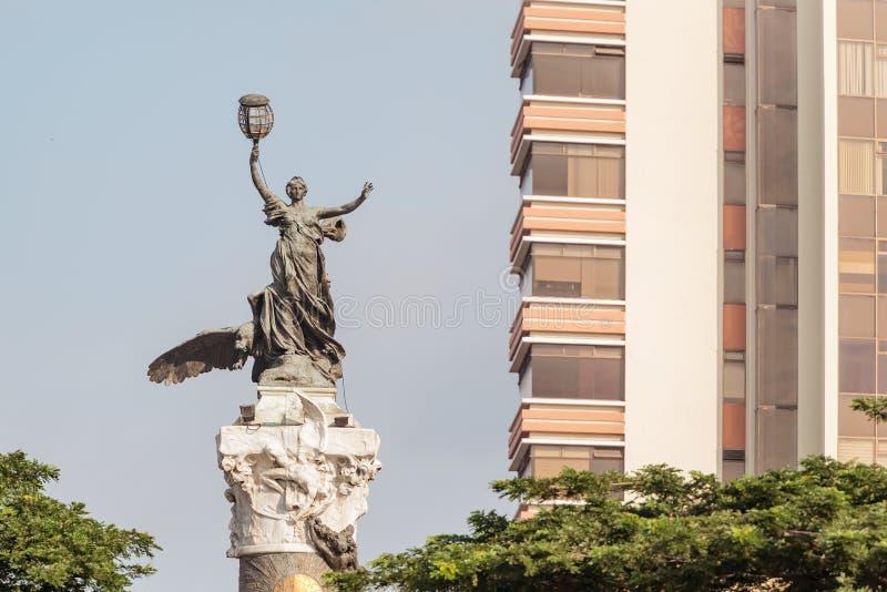 Monumento de la independencia en Guayaquil Ecuador foto de archivo libre de regalías