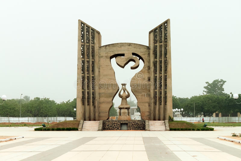 Monumento de la independencia, Togo fotografía de archivo