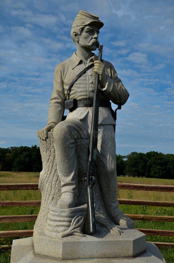 Monumento de la 149a infantería de Pennsylvania en el campo de batalla de Gettysburg fotos de archivo libres de regalías