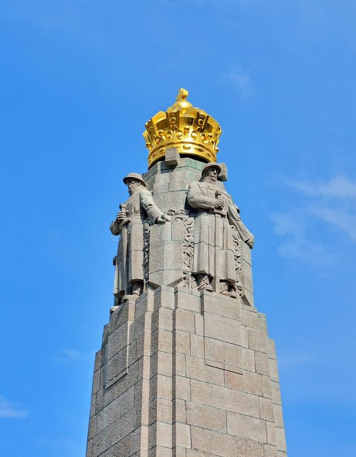 Monumento de la infantería en Bruselas, Bélgica fotos de archivo libres de regalías