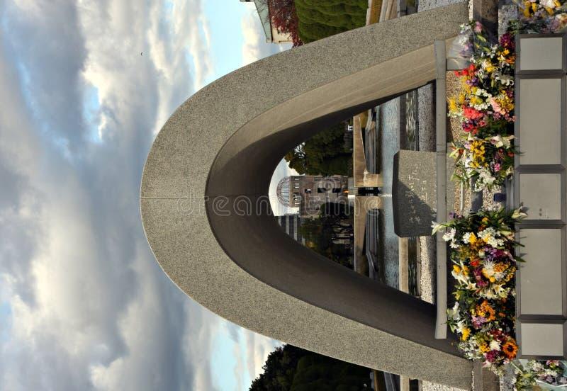 Monumento de la paz de Hiroshima fotos de archivo