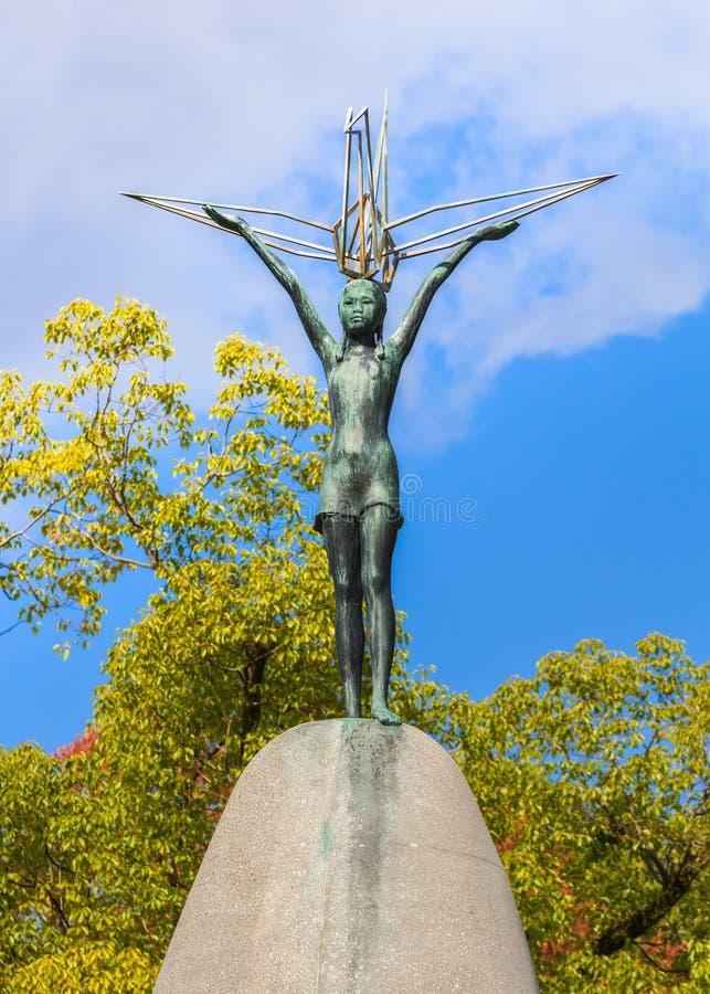 Monumento de la paz de los niños en Hiroshima fotografía de archivo libre de regalías