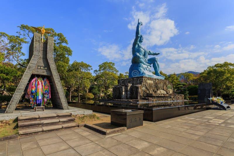 Monumento de la paz de Nagasaki fotos de archivo libres de regalías
