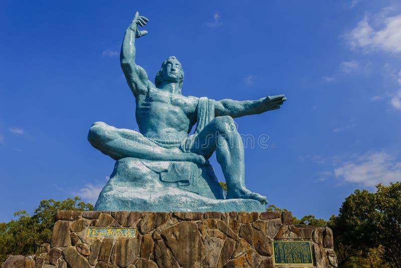 Monumento de la paz de Nagasaki imagen de archivo libre de regalías
