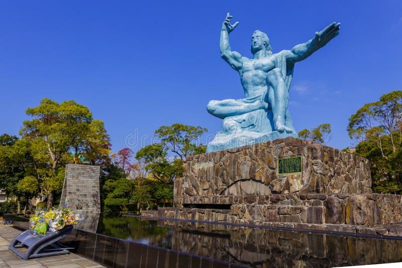 Monumento de la paz de Nagasaki foto de archivo libre de regalías