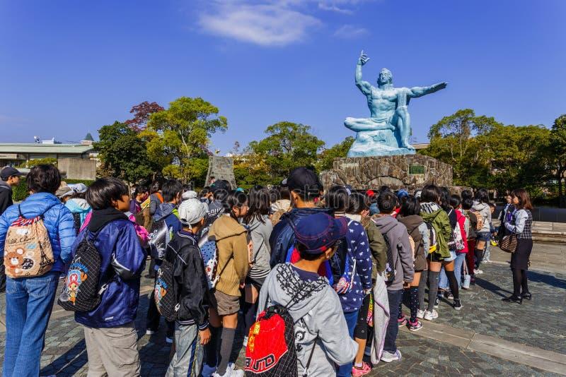Monumento de la paz de Nagasaki foto de archivo