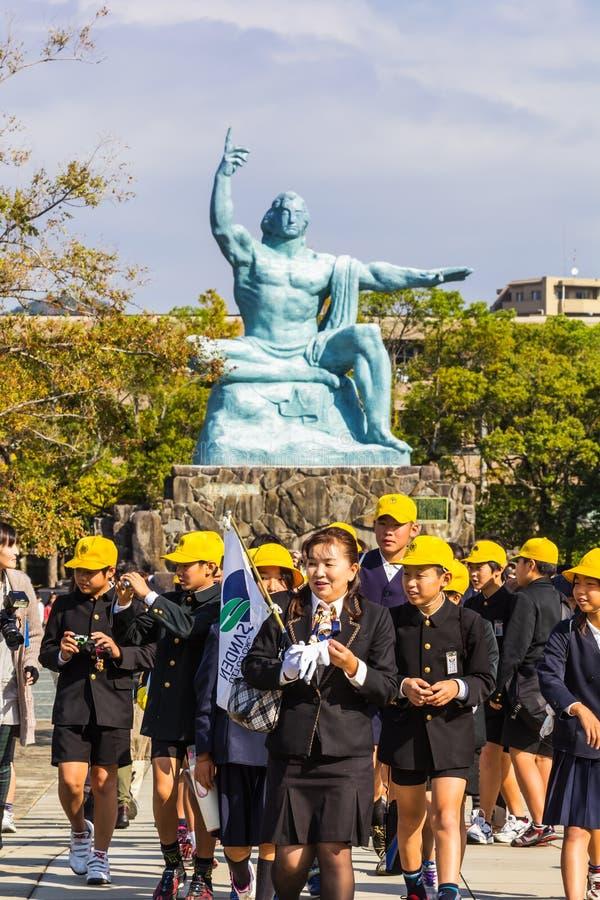 Monumento de la paz de Nagasaki fotografía de archivo libre de regalías