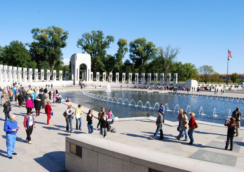 Monumento de la Segunda Guerra Mundial en el Washington DC, los E.E.U.U. imagenes de archivo