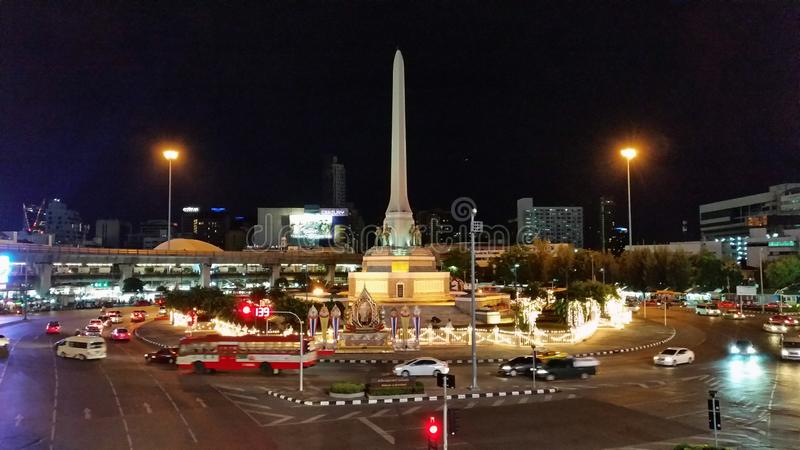 monumento de la victoria, Bangkok, Tailandia foto de archivo