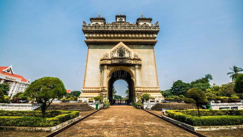 Monumento de la victoria en Vientián, Laos fotografía de archivo libre de regalías