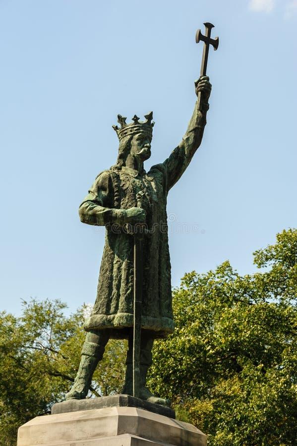 Monumento de la yegua de Stefan cel en Chisinau, el Moldavia imagen de archivo libre de regalías