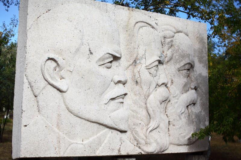Monumento de Lenin, de Marx y de Engels fotografía de archivo libre de regalías